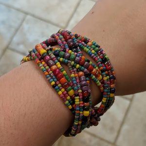 Jewelry - Rainbow Beed wrap bracelet